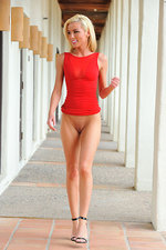 Blonde Lady in Red 13